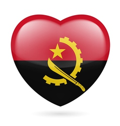 Heart icon of Angola vector image vector image