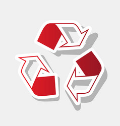 recycle logo concept new year reddish vector image