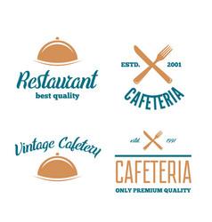set of restaurant shop design element in vintage vector image