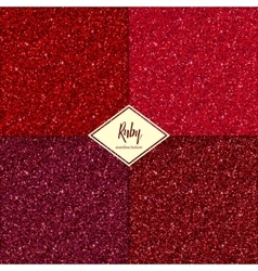 Set of ruby texture vector image