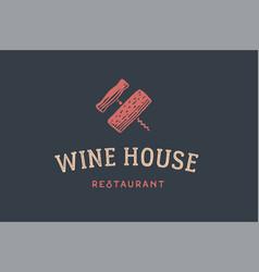 label of wine restaurant vector image