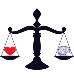 Love and brain vector image