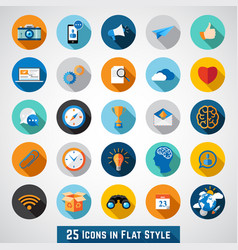 set of basic icons vector image