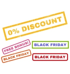 0 Percent Discount Rubber Stamp vector image