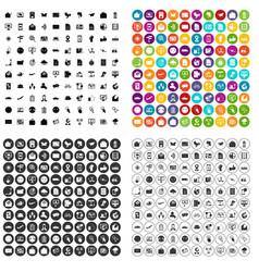 100 mail icons set variant vector