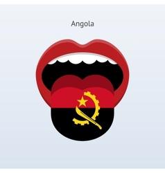 Angola language abstract human tongue vector