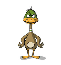 Angry cartoon dug vector