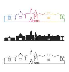 athens ga skyline linear style with rainbow vector image