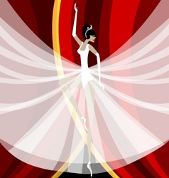 ballerina in white vector image