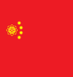 Banner on coronavirus theme with a chinese flag vector