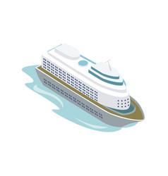 big cruise ship isometric 3d element vector image