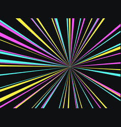 black multicolored background vector image