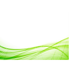 Bright eco geometrical green wave layout vector