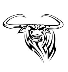 Buffalo mascot isolated on white vector image