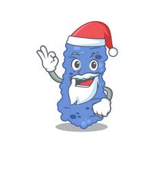 burkholderia bacteria santa cartoon character vector image