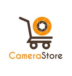 Camera store logo icon symbols design template vector