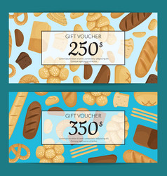 cartoon bakery elements discount or gift vector image