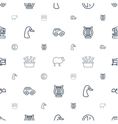 Cartoon icons pattern seamless white background vector