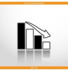 chart web flat icon vector image