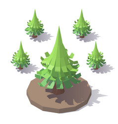 christmas tree origami of paper vector image