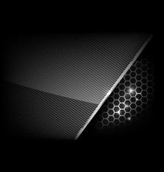 Dark and black with metal honeycomb pattern vector