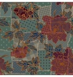 Dark patchwork pattern vector