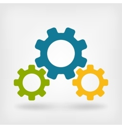 Development gears symbol vector