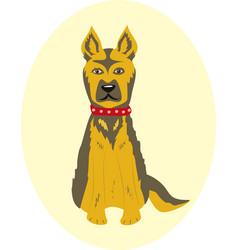 Dog pet dog collar vector