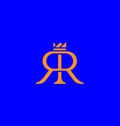 Double r with crown logo design elegant vector