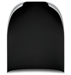 empty sheet of paper with bent corners dark vector image