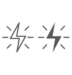 Energy line and glyph icon electric and power vector