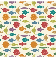 fish pattern color vector image vector image