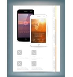 Flyer Brochure Design Template vector image