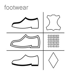 Footwear label vector