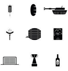germany icon set vector image