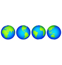 Globes collection vector image