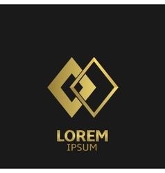 Golden logo vector image