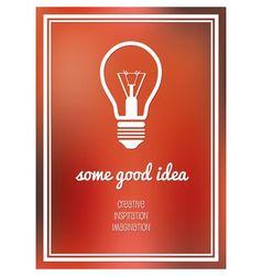 good idea poster vector image