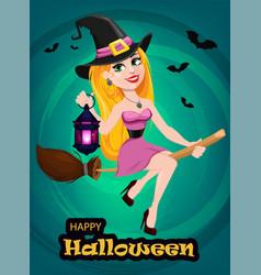 Halloween greeting card or invitation beautiful vector