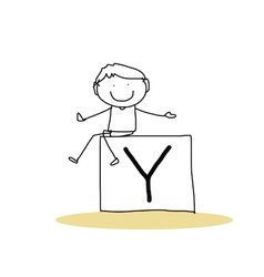 Happiness alphabet vector