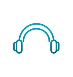 headphones sound music communications gradient vector image