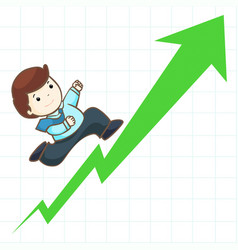 High profit stock graph vector