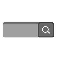 isolated search web button vector image