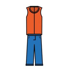 man fashion wear vector image