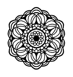 mandala for coloring book unusual flower shape vector image