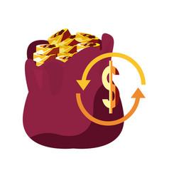 Money bag dollar exchange vector