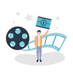 Movie people production vector