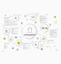 original creative cv resume template vector image