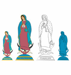 Our lady guadalupe statue vector