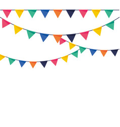Party pennants flat colorful vector